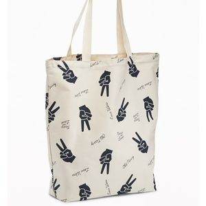 Old Navy Peace Graphic Tote